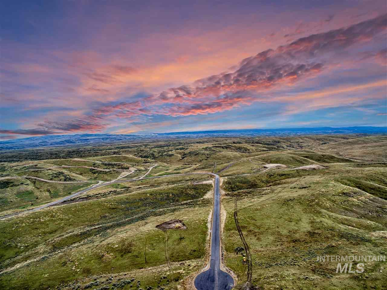 Enjoy spectacular views & stunning sunsets on this 10 acre lot in Eagle, ID! Bring your own builder! Room for horses, barns, corral, pasture, shop, garden, vineyard, you name it! Water rights included. Adjacent & accessible BLM land provides miles of trail riding while only a short 17 minute drive to downtown Eagle. Truly the best of both worlds! More lots available, all with unique views & varied lot prices. Construction to commence within 2 years of purchase. Call with questions!