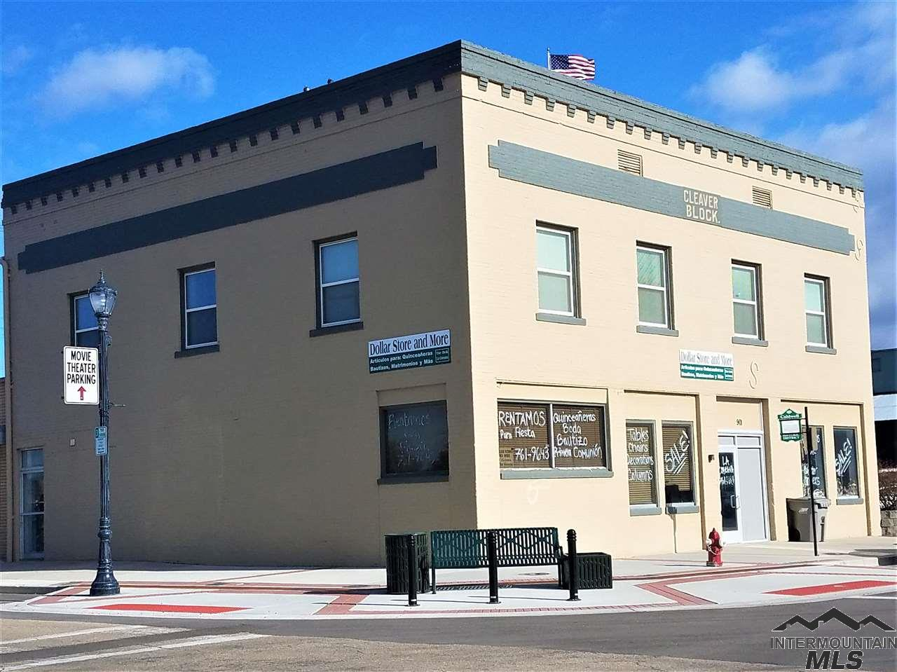 7500 Sq.Ft. 2-Story Brick Historic Property in the Heart of Caldwell's Downtown. Full Basement Storage. Great Access to I-84 and Canyon County Seat of Government. Great for Retail, Office, Law Office, Restaurant, Coffee Shop, Event Center. ADA access on main floor with Restrooms, Fully Remodeled 2nd Floor. Great Parking, next to the New Real Theater Complex and Caldwell US Post Office.